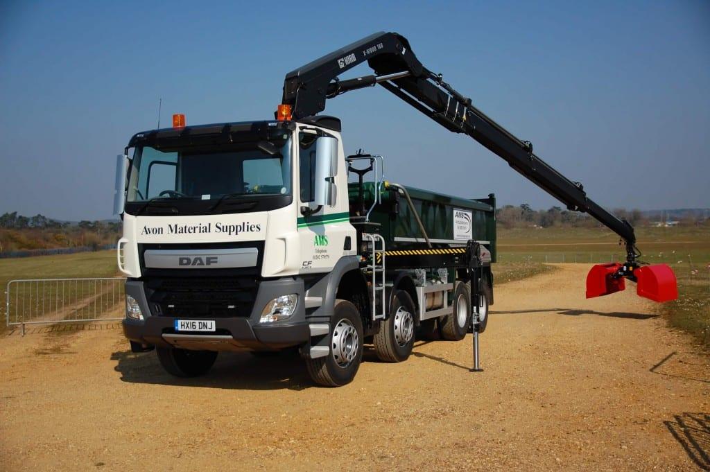 8 wheel grab lorry, Avon Material Supplies