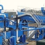 Aggregate washing plant at Canford Recycling