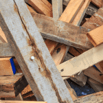 wood waste recycling in skip