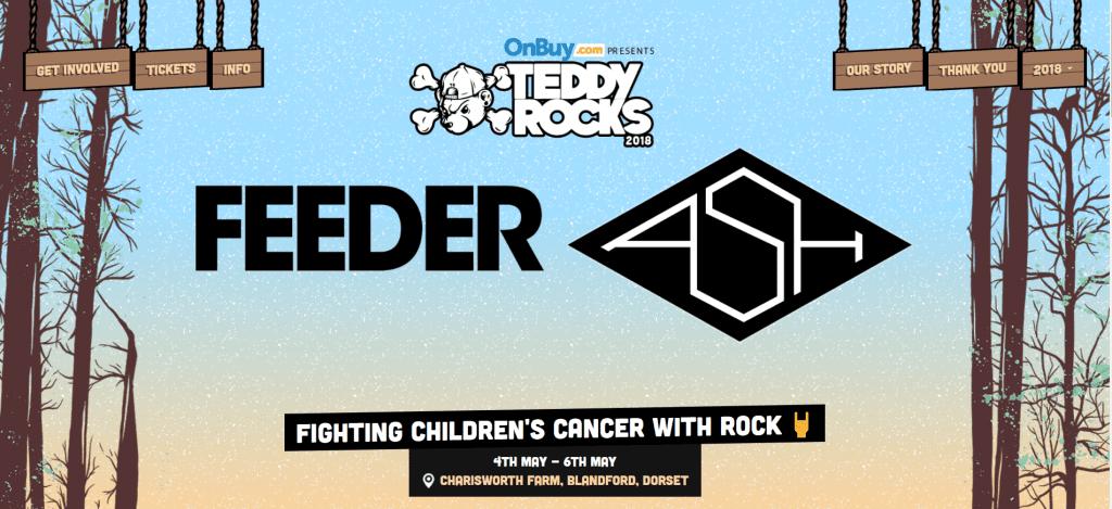 Teddy Rocks festival homepage