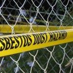 Asbestos awareness sign
