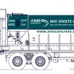 AMS concrete volumetric truck mixers