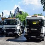 AMS trucks including tipper, grab and skip truck