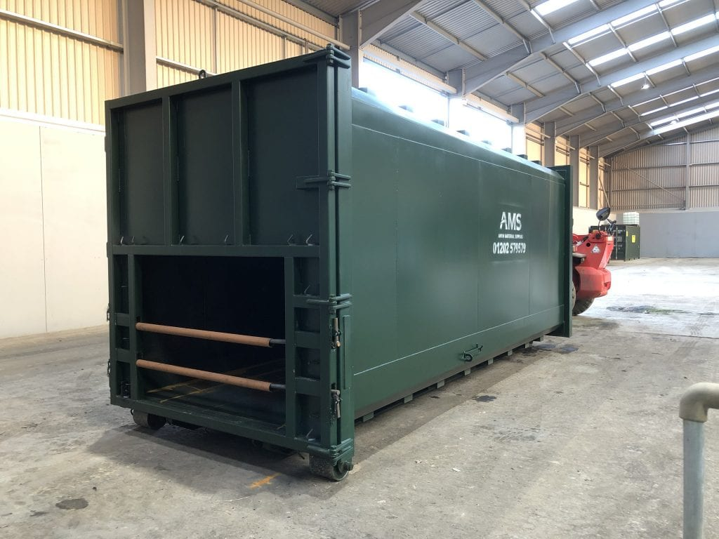 Static waste compactor container