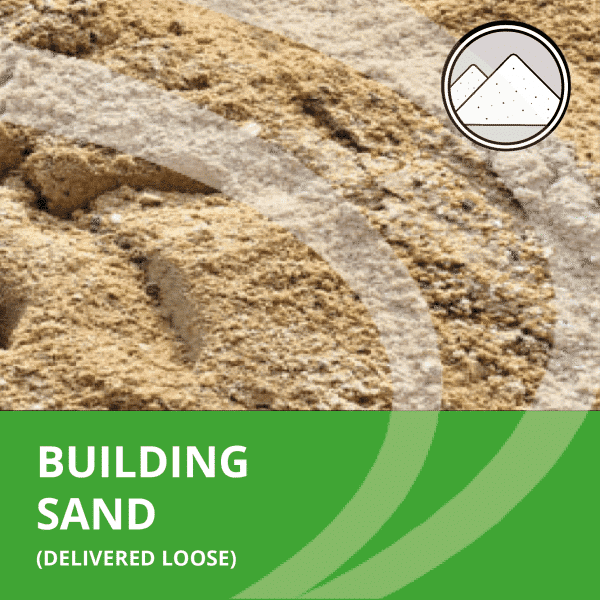 Building sand delivered loose by AMS