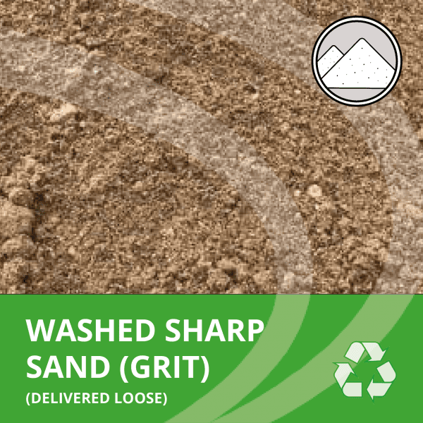 Sharp washed sand from AMS delivered loose by the tonne