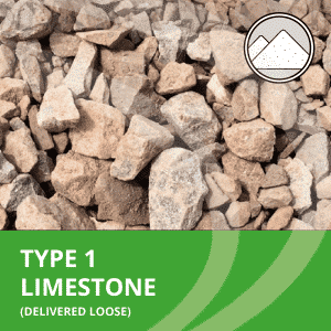 type 1 limestone from AMS delivered loose