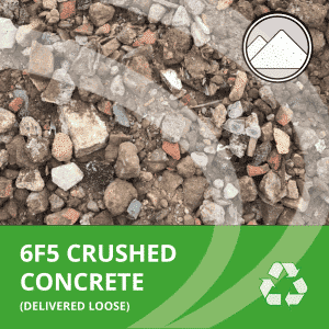 6F5 crushed concrete delivered loose by AMS