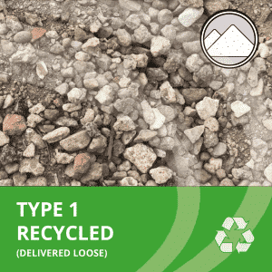 Type 1 recycled aggregate delivered loose by AMS