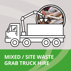 Site waste grab lorry hire service