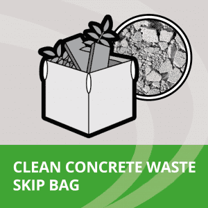 Skip bag filled with clean concrete