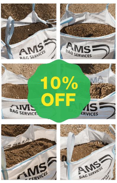 10% off bagged aggregates