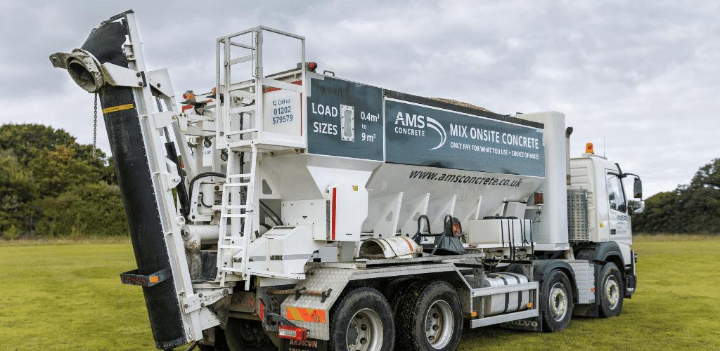 AMS Mix onsite concrete truck