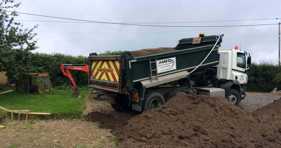 Topsoil in somerset ams deliver soil for sherborne turf for Topsoil delivery