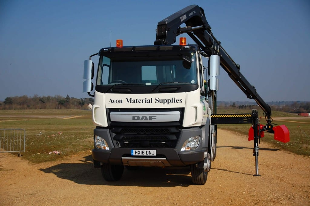 New 8 wheel grab lorry at Avon Material Supplies