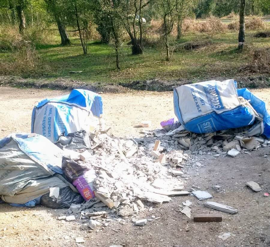 Fly tip in New Forest
