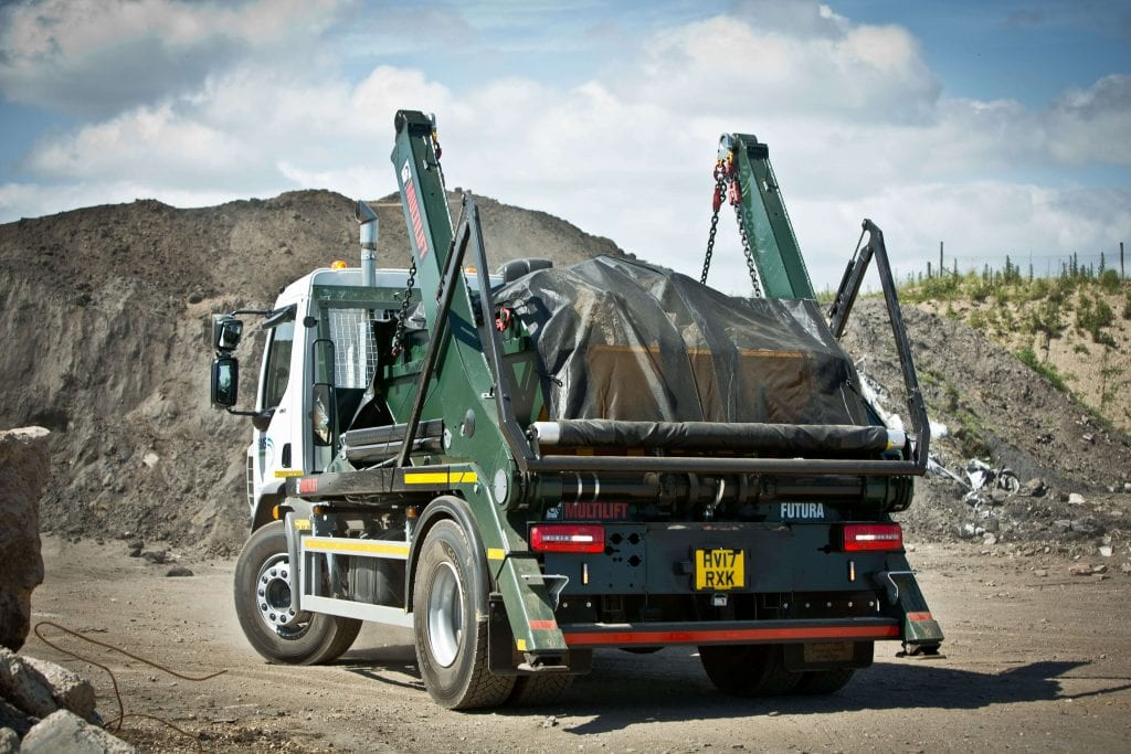 AMS skip lorry on inert facility