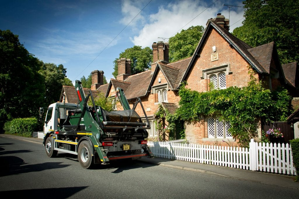 Garden waste skip hire in Wimborne