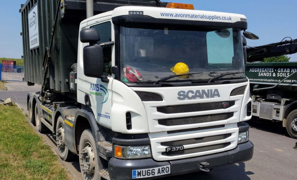 RoRo lorry in Wimborne