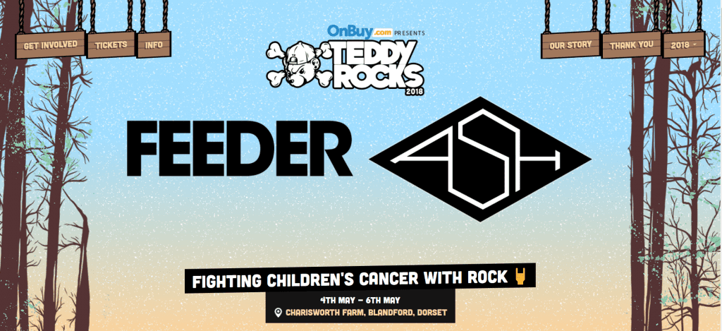 Teddy Rocks festival homepage