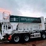 Volumetric mix onsite concrete lorry
