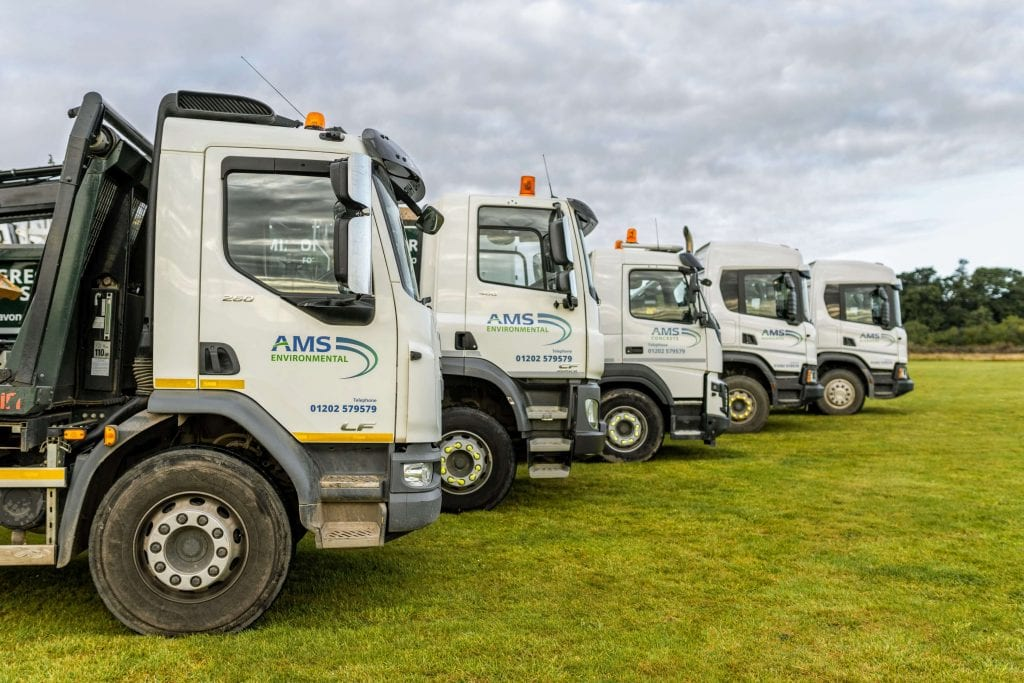 AMS fleet or tipper and grab trucks