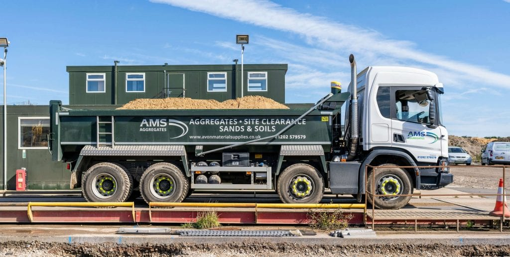 AMS Tipper truck on weighbridge