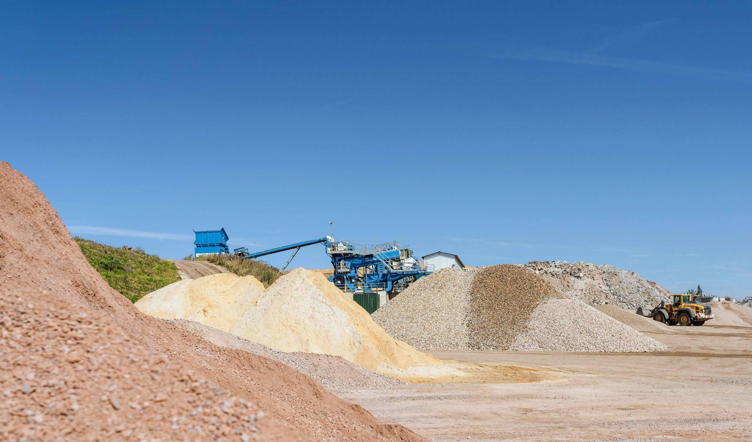 Loose aggregates at Avon Material Supplies