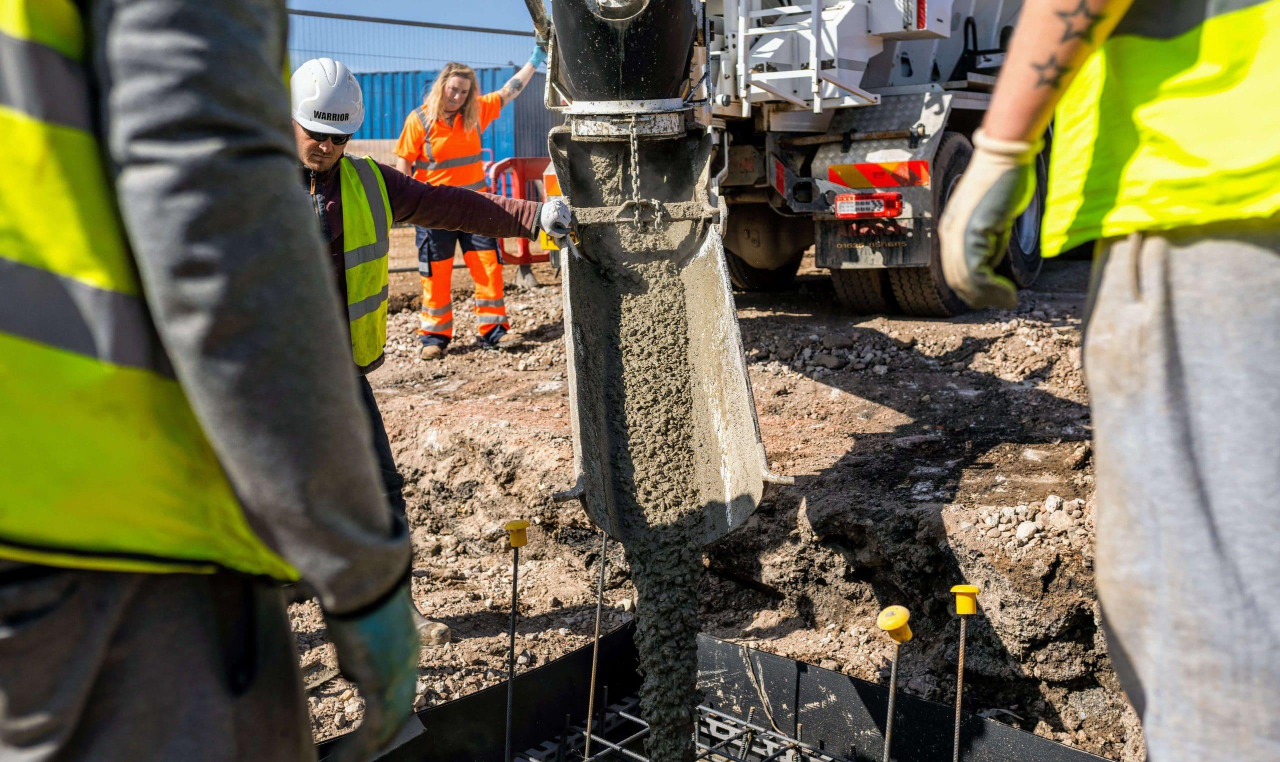 Avon Material Supplies pouring concrete